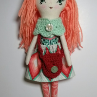 Coral haired doll, Lilly