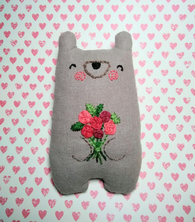 Red Rose Love Bear