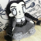 Miniature Wednesday Addams Inspired Art Doll