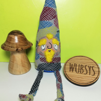 Upcycled Mini Gnome, Sylvester with Yellow Beard