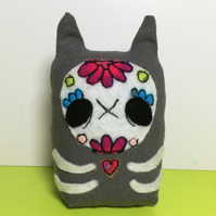 Halloween Candy Skull Cat Ornament