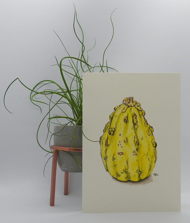 Warty Pear Greetings Card
