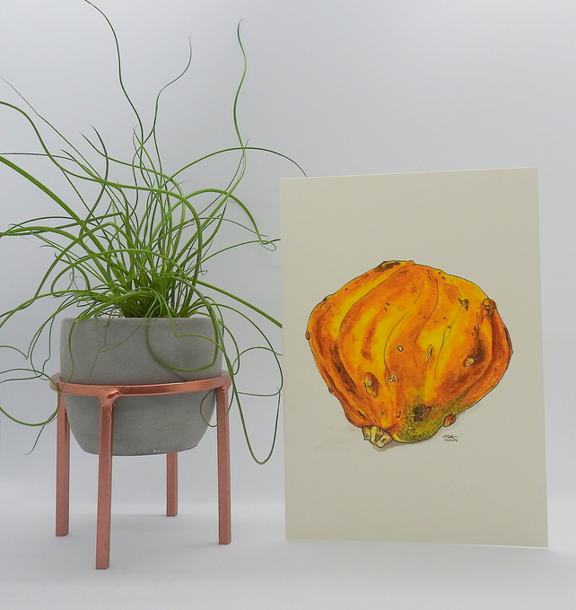 Ornamental Gourd Greetings Card
