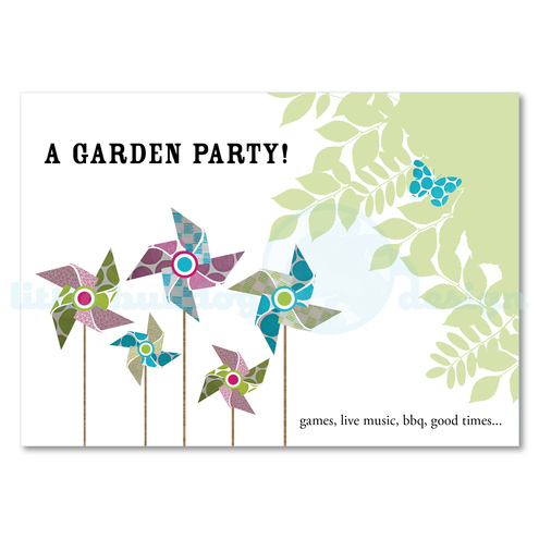 Personalised Garden Party Invitations (10 cards and envelopes)