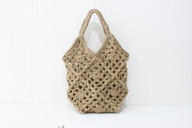 Natural Jute Market Bag Net Bag String Sustainable eco-friendly made in Suffolk