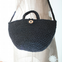 Jute Shoulder Bag Tote Bucket Bag Sustainable eco-friendly made in Suffolk