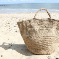 Natural Jute Market Bag Tote Beach Bag Sustainable eco-friendly made in Suffolk
