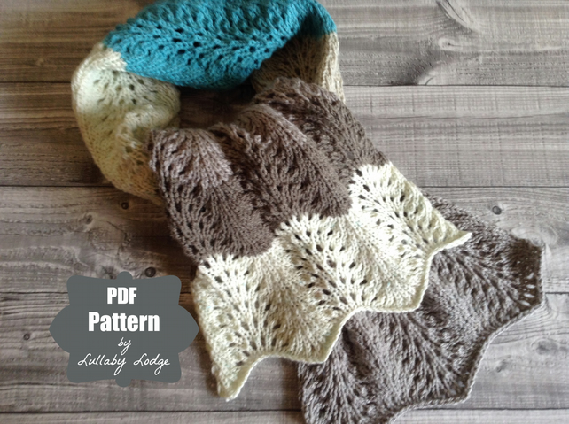 PDF PATTERN - Make this cosy Caron Cakes colour block knitted scarf