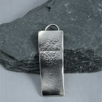 Handcrafted Solid Sterling Silver Medium Reticulated Pendant