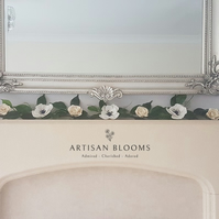 Contemporary Artisan Blooms Felt Flower Garland - 100% Merino Wool Felt