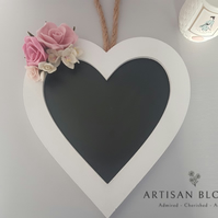 Lovely Artisan Blooms Felt Flower Heart Blackboard - 100% Merino Wool Felt