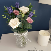 Lovely Artisan Blooms Felt Flower Arrangement  - 100% Merino Wool Felt