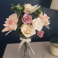 Intricate (360 Degree) Artisan Blooms Felt Flower Arrangement  - 100% Wool Felt