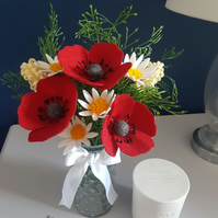 Gorgeous Artisan Blooms Felt Flower Arrangement  - 100% Merino Wool Felt