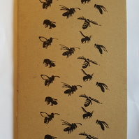 A5 Bees Sketchbook or Notebook