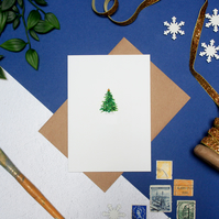 Christmas Tree Blank Greeting Card