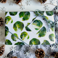 Brussel Sprout Pattern Gift Wrap