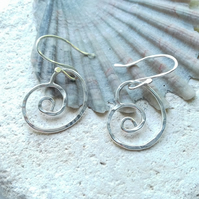 Textured Spiral Earrings