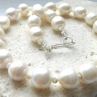 Freshwater Pearl and Mother of Pearl Necklace