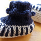 Baby Booties Age 0-3 months. Hand-knit in 100% wool