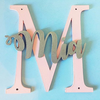 Personalised Monogram Letter Door Plaque