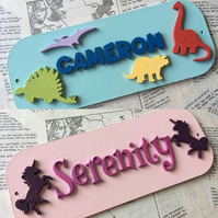 Personalised Door Name Plaque (Any Theme)