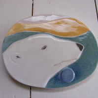 Polar Bear Pastel Moon