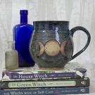 PRE-ORDER - Wheel Thrown Mug - Triple Moon