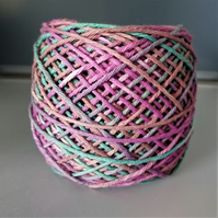 "100% Cotton DK Hand Dyed Yarn ""Muted Brights"" approx 100g"