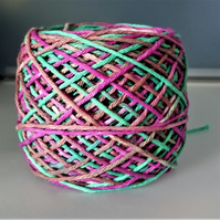 "100% Cotton DK Hand Dyed Yarn ""Vibrant Brights"" approx 100g"