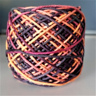 "100% Cotton DK Hand Dyed Yarn ""Vibrant Autumn"" approx 100g"