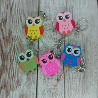 Handmade Wooden Owl Shaped Stitch Marker, Pack of 5