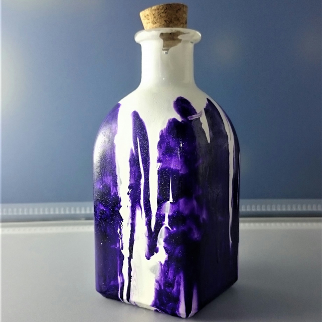 Hand Painted Bottle or Flower Vase No.4 13cm