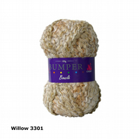 "Cygnet Bumper Boucle Super Chunky Premium Acrylic Yarn ""Willow"""