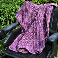 Chunky Rustic Lap, Wheelchair, Fireside Blanket Hand Crocheted