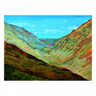 """"""" The Valley View """", Landscape painting on canvas"""