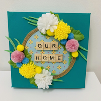 "Hand Created ""Our Home"" Wall Plaque"