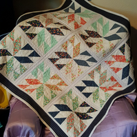 Star Lap Quilt or Throw