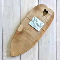 Heart of Wood Rippled Sycamore Chopping Bread Board