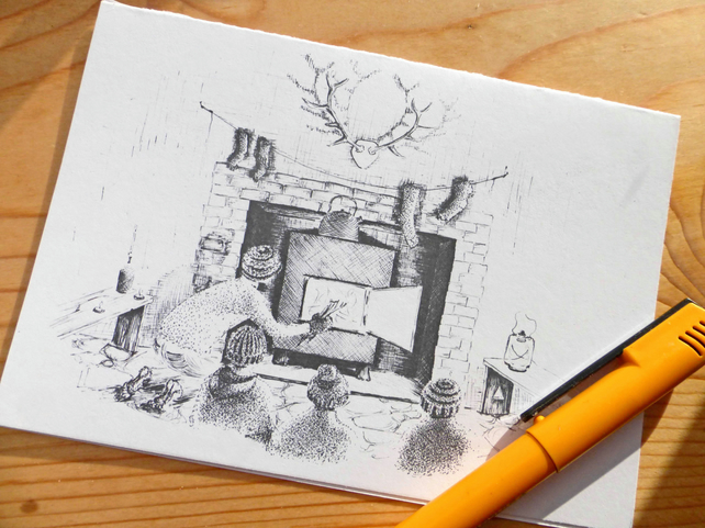 Bothy Nights - Art Print Blank Card