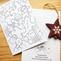 Gingerbread - Art Print Christmas Card