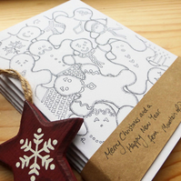 Gingerbread - Five Art Print Christmas Cards