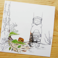 Grove Snail - Art Print Blank Card