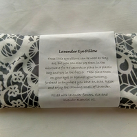 Lavender Eye Pillow in Grey material