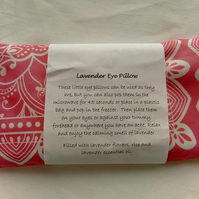 Lavender Eye Pillow in pink material