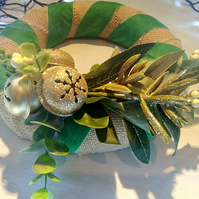 Wreath in Greens and Golds
