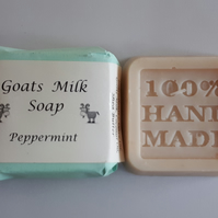Natural Goat Milk Soap - Peppermint (80g)