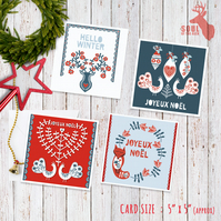 Scandinavian Style Christmas Cards (Set of 7)