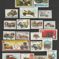 Used postage stamps. 20 stamps on the theme of Vintage Cars
