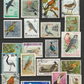 Used postage stamps. 20 stamps on the theme of Birds